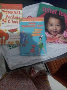 Buku-buku MPASI : MPASI perdana Cihuy, MPASI travelling mamaku koki handal, MPASI dr.Tiwi